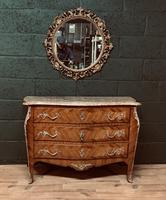 Beautiful French Louis XVI Style Tulip wood marble top commode (6 of 12)