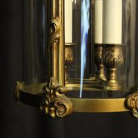French Gilded Bronze Antique Hall Lantern (9 of 9)