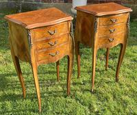 Pair of French Marquetry Bedside Tables (5 of 6)