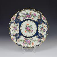 First Period Worcester Porcelain Blue Scale Junket Dish c.1770 (3 of 8)