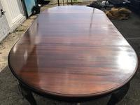 Antique Mahogany 8Ft Wind Out Extending Dining Table (9 of 14)