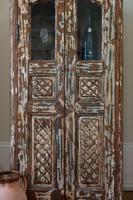 Unique Tall Two Door Teak & Painted Cabinet (10 of 16)