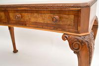 Antique Burr Walnut Queen Anne Style Console Server Table (6 of 10)