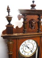 Gustav Becker Antique Walnut & Ebonised 8-day Twin Weight Striking Vienna Regulator Wall Clock (8 of 14)