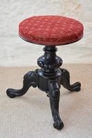 Victorian Ebonised Adjustable Piano Stool (2 of 10)