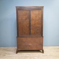 Mahogany & Burr Walnut Glazed Bookcase (11 of 11)