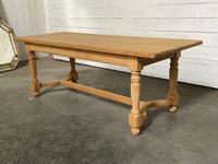 Nice Bleached Oak Farmhouse Dining Table (10 of 19)
