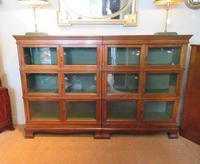 Superb Antique Oak Barrister's Double Glazed Bookcase (9 of 11)
