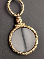 Antique Georgian Gold Quizzing Glass, Pendant, 9ct (7 of 10)
