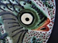 Spanish Art Pottery Fish Plate, Puigdemont Catalonia c.1950 (5 of 5)