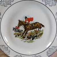 Woods Hunting Scene Plates (2 of 6)