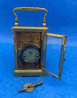 Victorian 8 Day  Brass Carriage Clock (9 of 13)