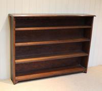 Large Solid Oak Open Bookcase (4 of 9)