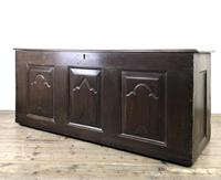 Antique 18th Century Oak Coffer with Carved Detail (11 of 12)
