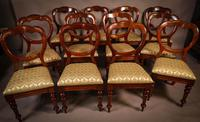 Good Set of 12 Victorian Balloon Back Dining Chairs (5 of 11)