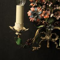 French Pair of Toleware Floral Wall Lights (4 of 10)