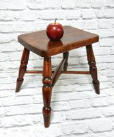 Small Elm Country Stool (2 of 6)