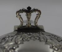 Pair of Antique Victorian Silver Mounted Claret Jugs. Birmingham 1888 (5 of 7)