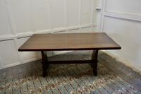 Large Country Oak Refectory Table