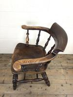 19th Century Ash and Elm Smoker's Bow Chair (M-1704) (13 of 15)