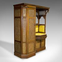Antique Wardrobe, English, Walnut, Art Deco, Vanity, Liberty of London c.1920