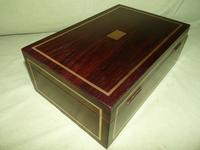 Quality Unisex Inlaid Rosewood Jewellery Box. c1840 (8 of 11)
