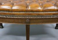 Hepplewhite Revival Bow-fronted Stool (5 of 6)