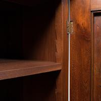 Antique Side Cabinet, English, Walnut, Drinks Cupboard, Bookcase, Edwardian (10 of 10)