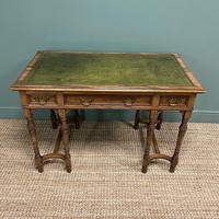 Stunning Victorian Arts & Crafts Walnut Antique Desk (5 of 8)