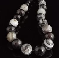 Antique Victorian Banded Agate Bead Necklace (13 of 13)