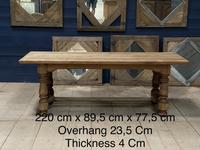 Deep Bleached Oak French Farmhouse Dining Table (2 of 20)