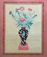 Large Original Japanese Inspired Floral Still Life Watercolour Painting (2 of 12)