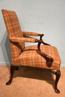 George I Style Walnut Gainsborough Armchair (2 of 8)