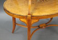 Elegant Inlaid Satinwood Étagère Two Tier Table c.1890 (6 of 6)