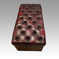 Victorian Leather Camphor Wood Ottoman (9 of 10)