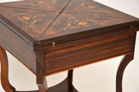 Antique Victorian Inlaid  Rosewood Envelope Card Table (12 of 12)