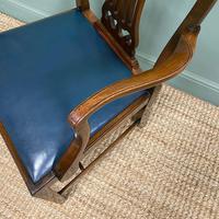 Elegant Pair of Edwardian Walnut Hepplewhite Design Antique Carver Chairs (3 of 7)