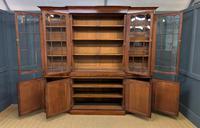 William IV Mahogany Breakfront Bookcase (11 of 15)