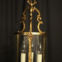 French Gilded Convex Antique Hall Lantern (7 of 7)