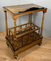 Victorian Inlaid Walnut Canterbury What Not (9 of 11)