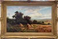 'Harvest Time' A Victorian oil painting by John J Wilson