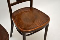 Set of 4 Antique Bentwood Cafe Dining Chairs (10 of 12)