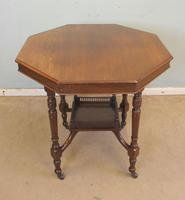 Antique Walnut Shaped Occasional Centre Table (3 of 6)