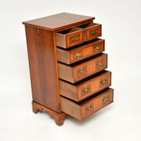Georgian Style Yew Wood Chest of Drawers c.1940 (6 of 9)