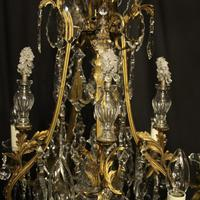 French Gilded Bronze 11 Light Antique Chandelier (9 of 10)