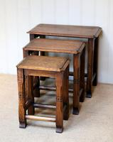 Solid Oak Nest of Three Tables (4 of 9)