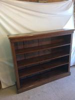 Victorian Open Front Mahogany Bookcase (2 of 3)