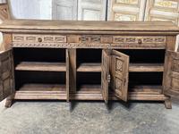 Rustic Oak Spanish Sideboard (10 of 13)