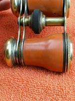 Antique Opera Glasses, Brass & Brown c.1920 (7 of 11)