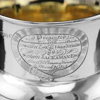 Georgian Solid Silver Cup / Goblet / Trophy with Napoleonic Military interest - Solomon Hougham 1812 (4 of 24)